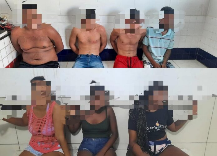 Quatro pessoas são presas e três menores detidos por tráfico de drogas em Matinha