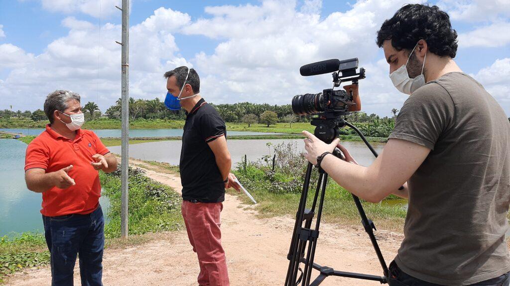 Casos de sucesso da piscicultura em Matinha integrarão série de reportagens do Sebrae Nacional